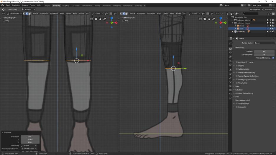 Blender: Charakter erhält ein Körper