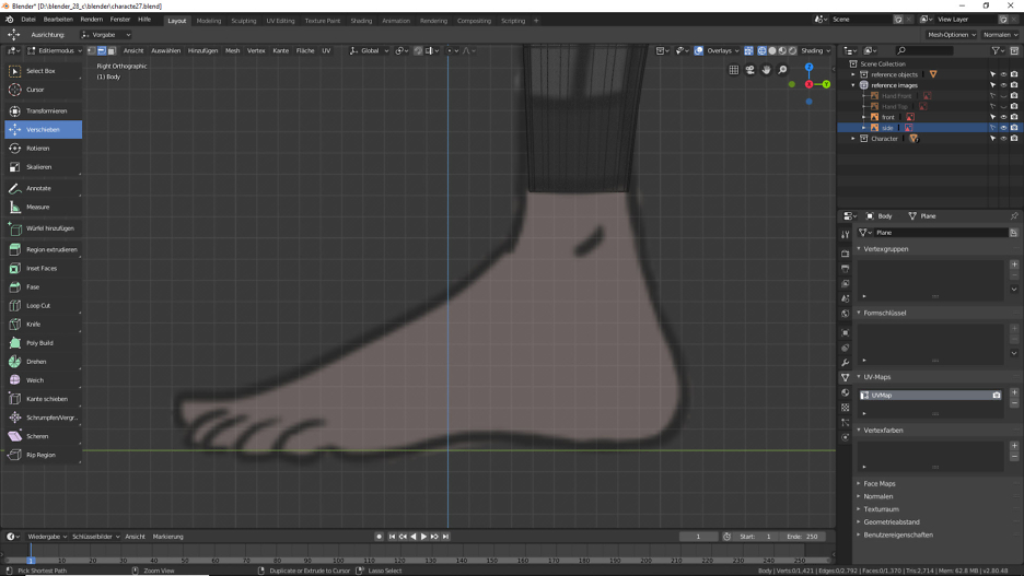 Blender: 3D Modellierung der Füße