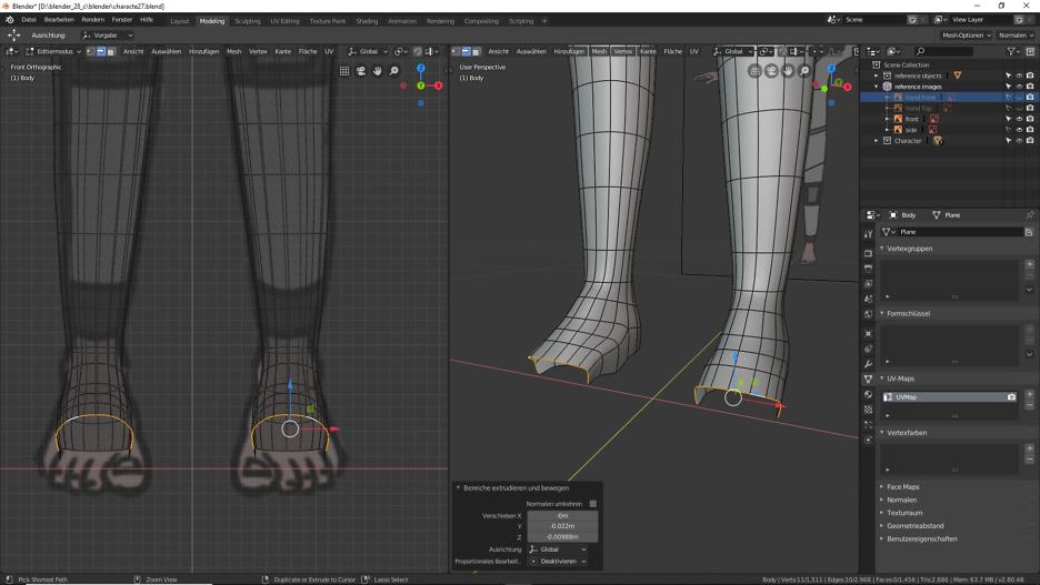 Blender: 3D Modellierung der Füße 2