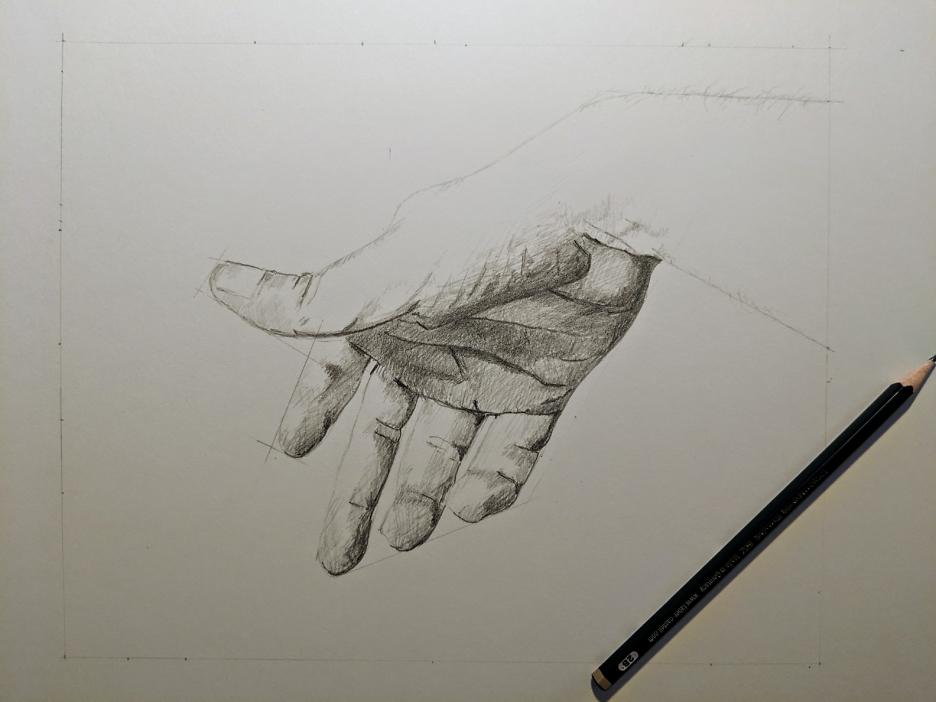 Bleistiftzeichnung Hand 13 Mai 2019