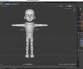 Blender: Astronautin – Digital sculpting
