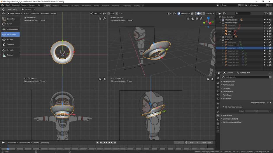 Blender: Helm für die Astronautin 3