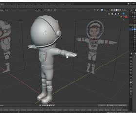 Blender: Helm für die Astronautin