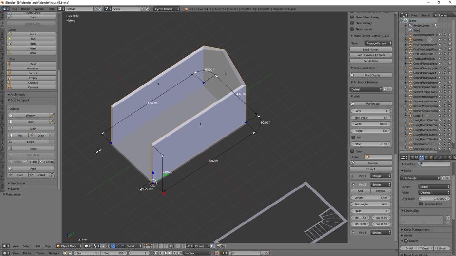 Architekturvisualisierung mit Blender