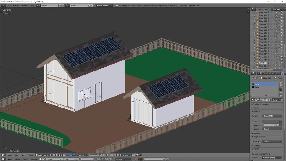 Solaranlage für das Dach