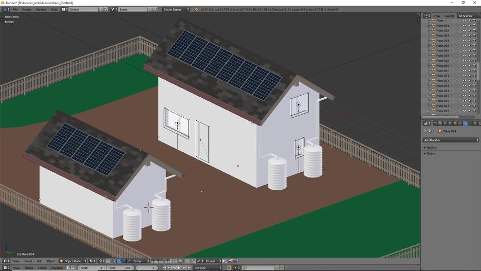 Architekturvisualisierung mit Blender – Teil 3 2