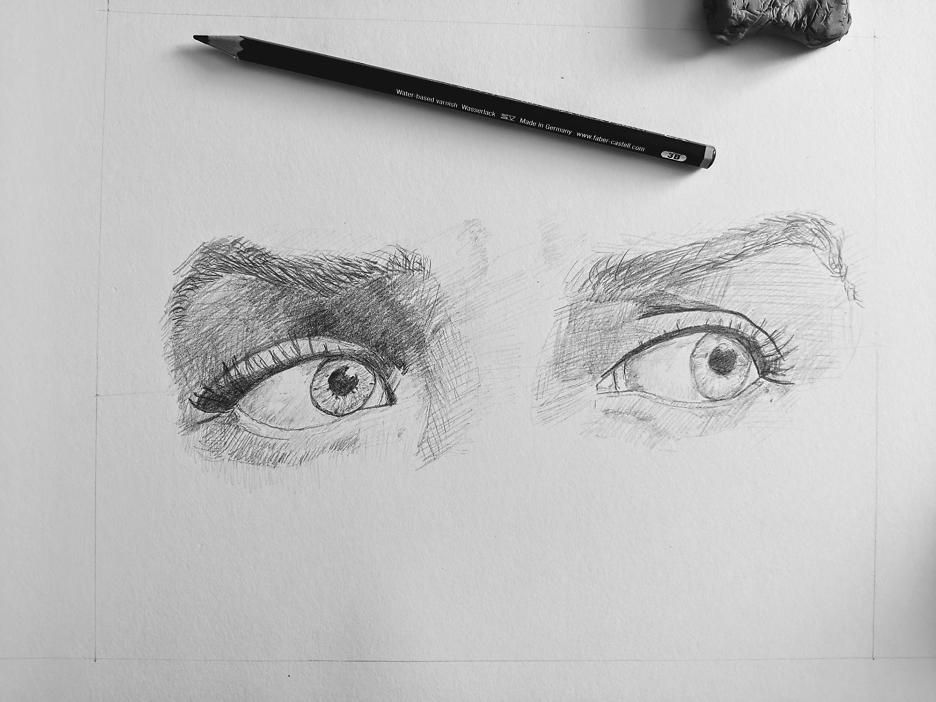 Bleistiftzeichnung: Augen 2