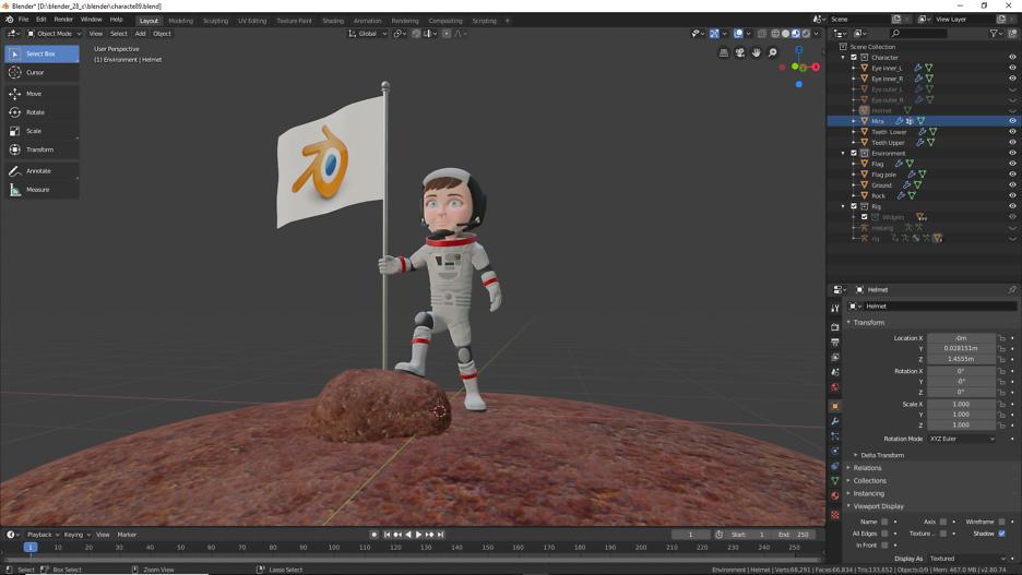 3D Modellierung einer Astronautin mit Blender