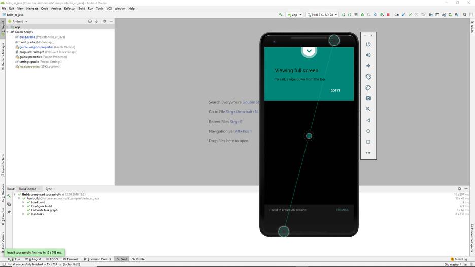 Entwicklung einer App 18
