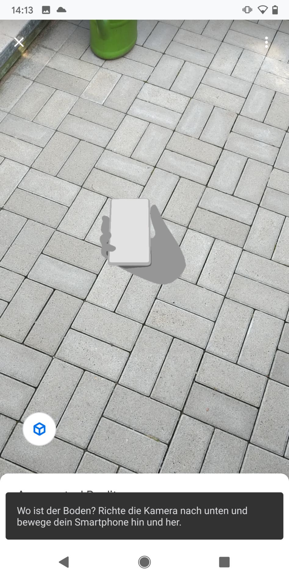 Platz  für das 3D Modell suchen
