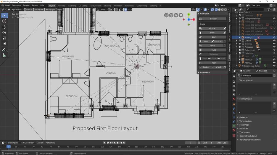 Blender 2.80 : Die erste Etage 3