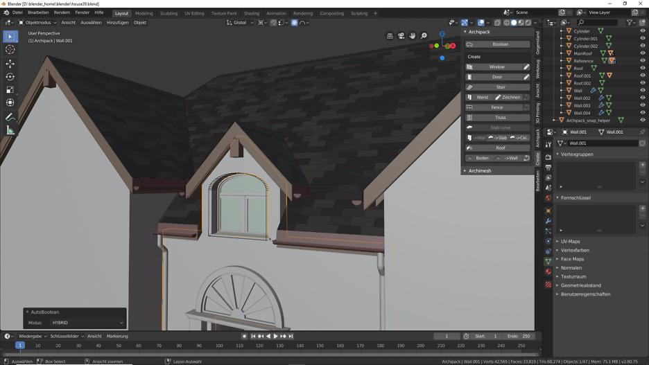 Blender 2.80: Fenster 4