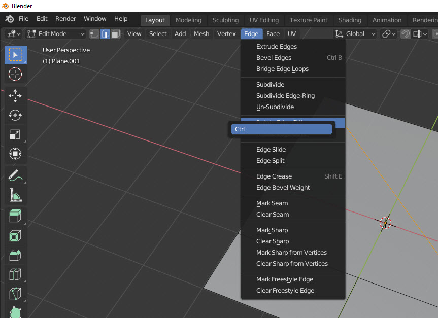 Assign Shortcut in Blender festlegen