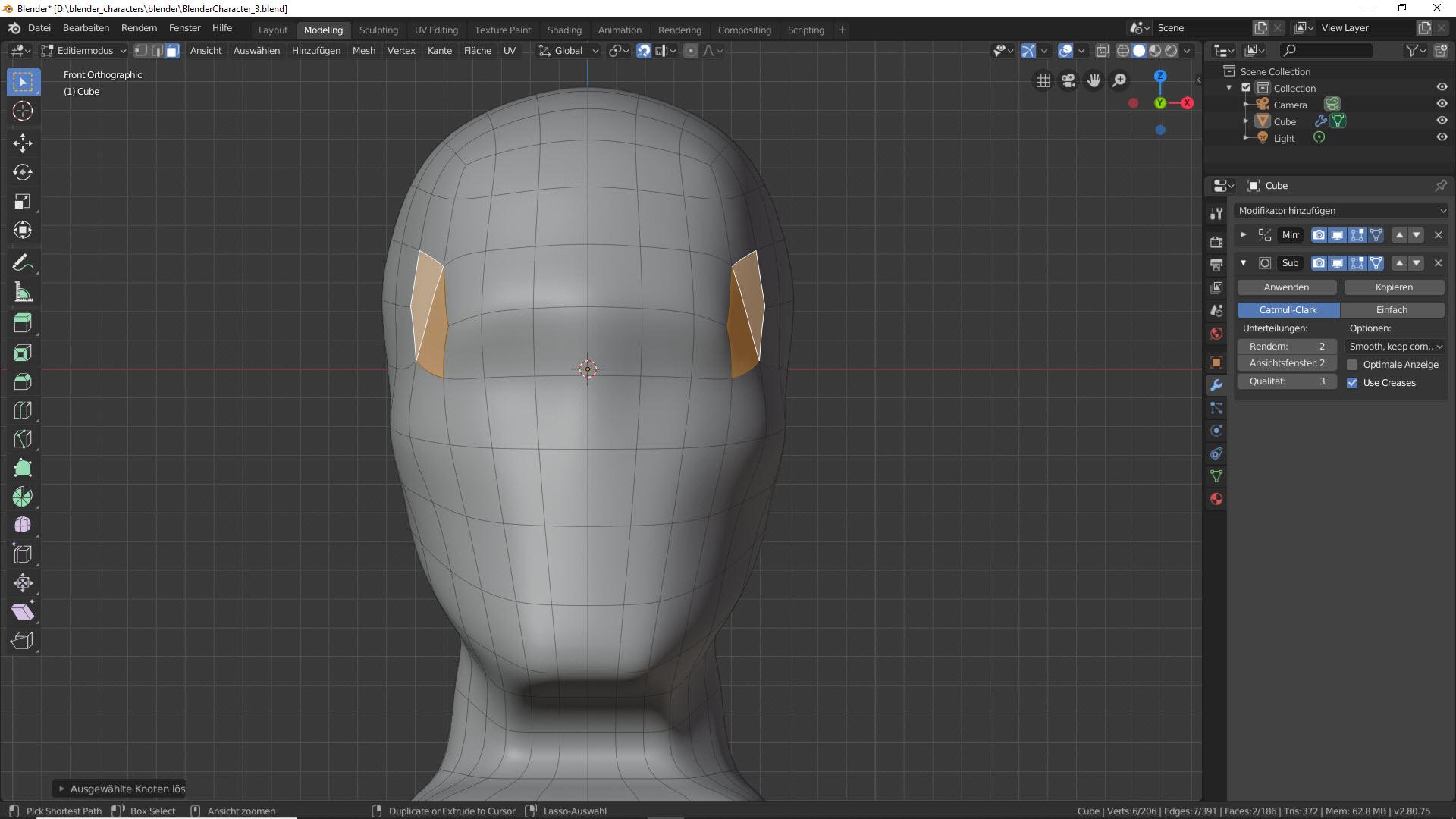 Blender Character Modeling Teil 2 1