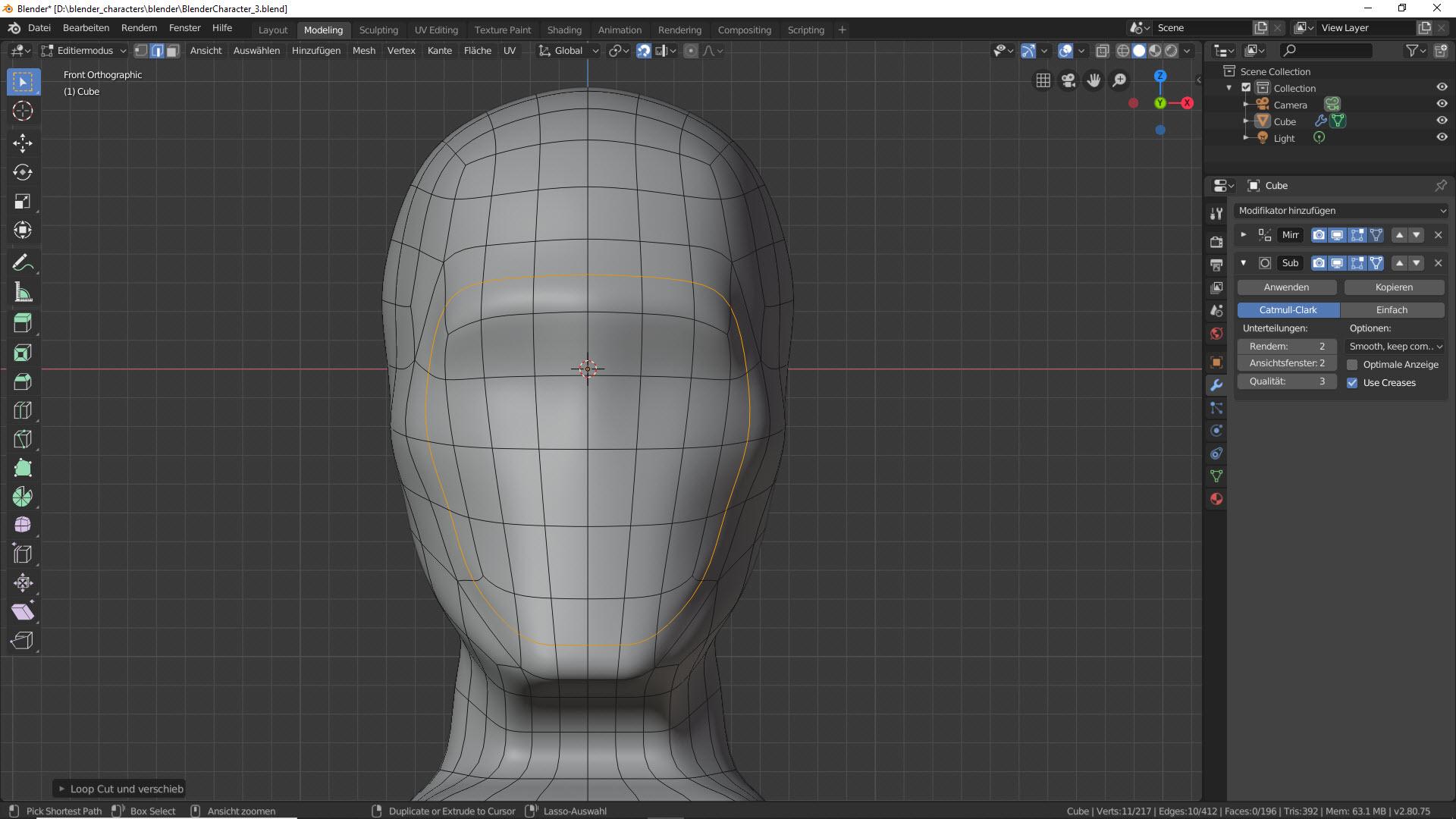 Blender Character Modeling Teil 2 2