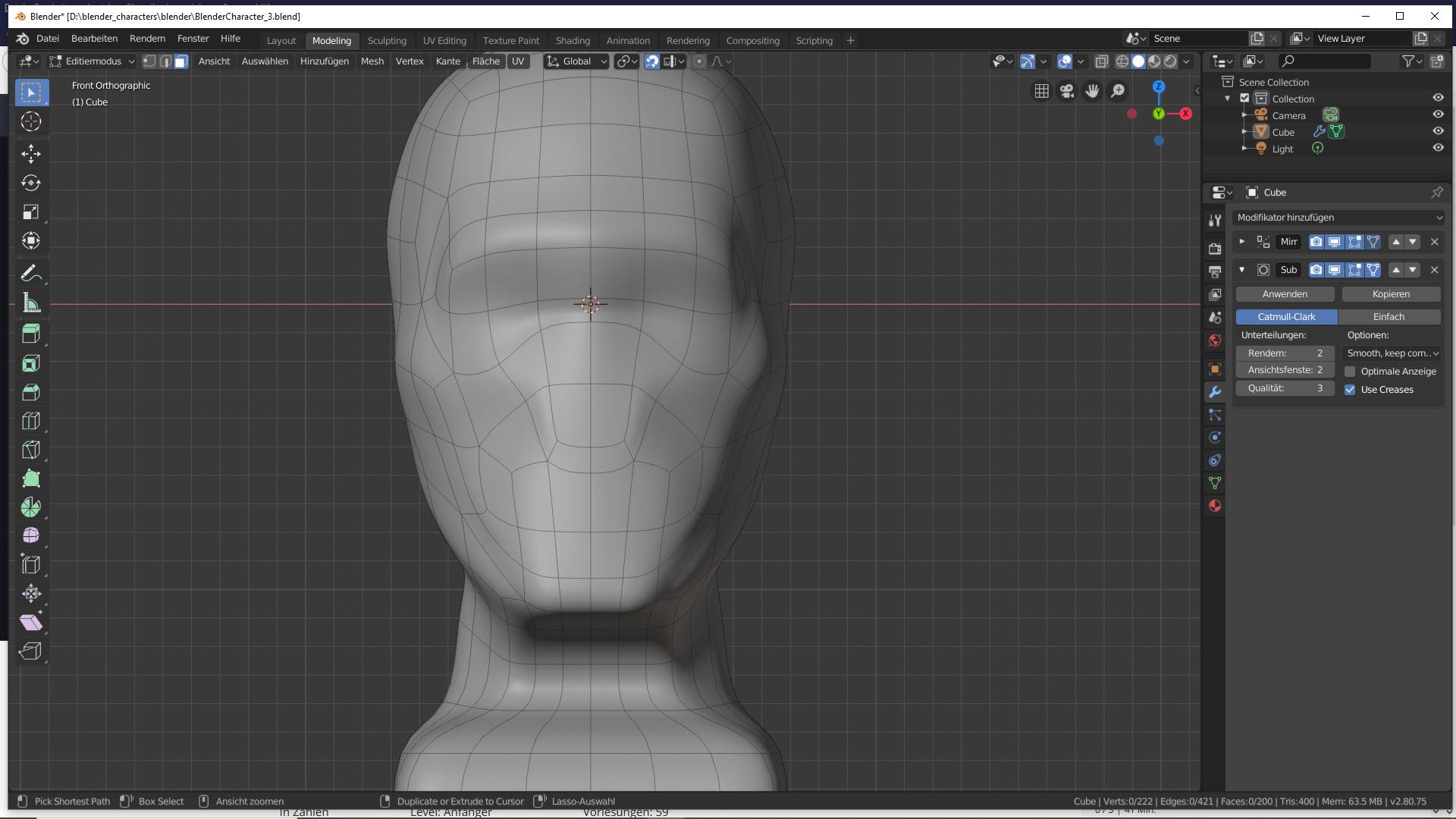 Blender Character Modeling Teil 2 4