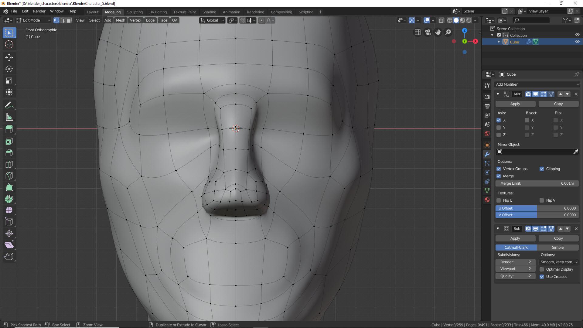 Blender Character Modeling Teil 2 6