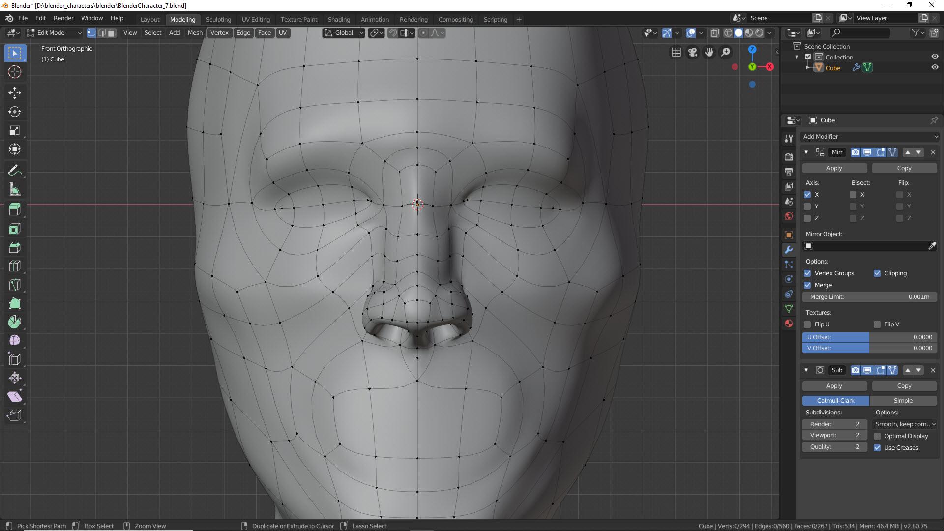 Blender Character Modeling Teil 2 9