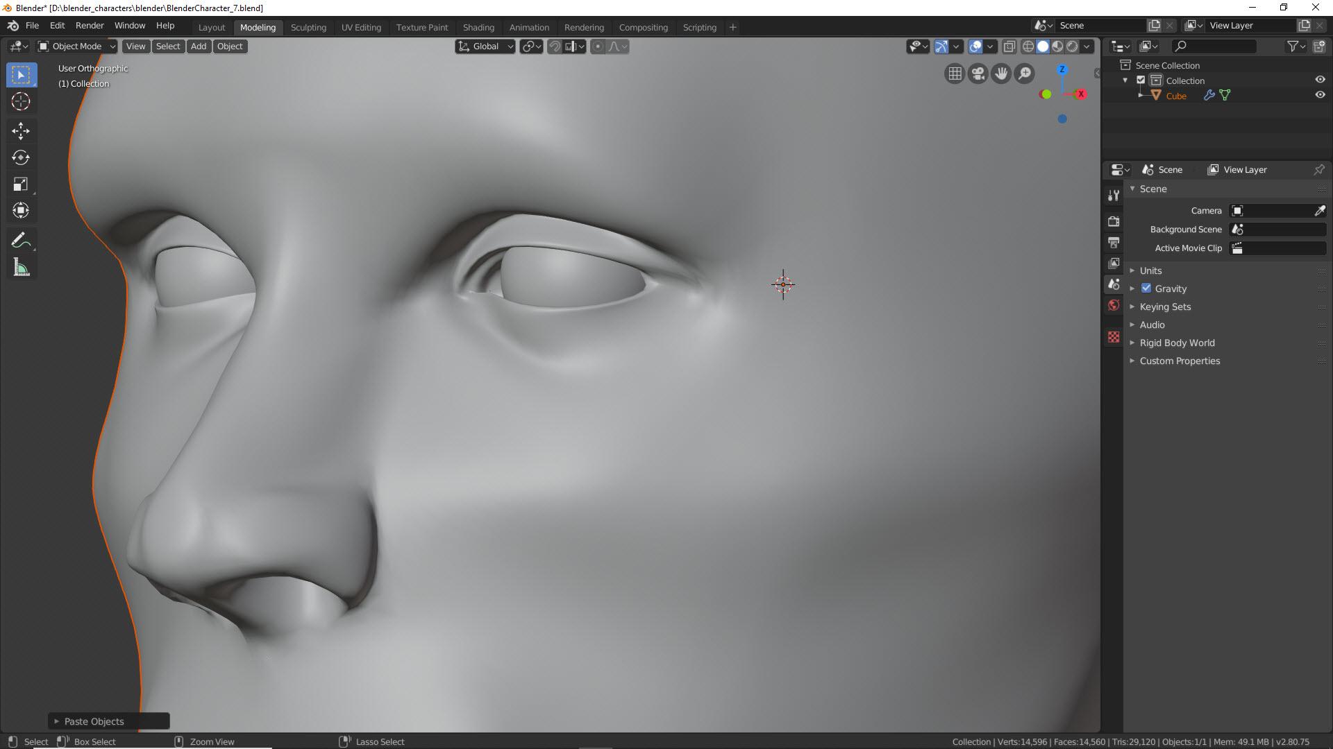 Blender Character Modeling Teil 2 11