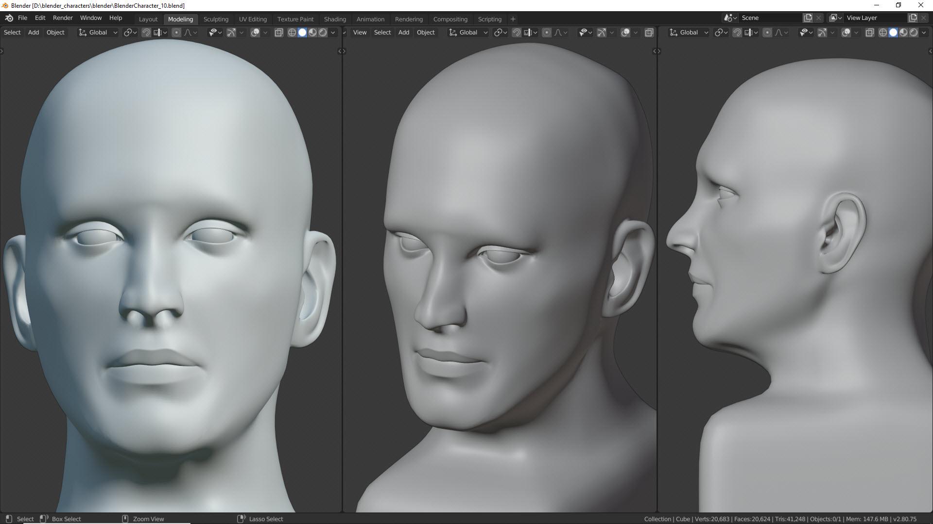 Blender Character Kopf