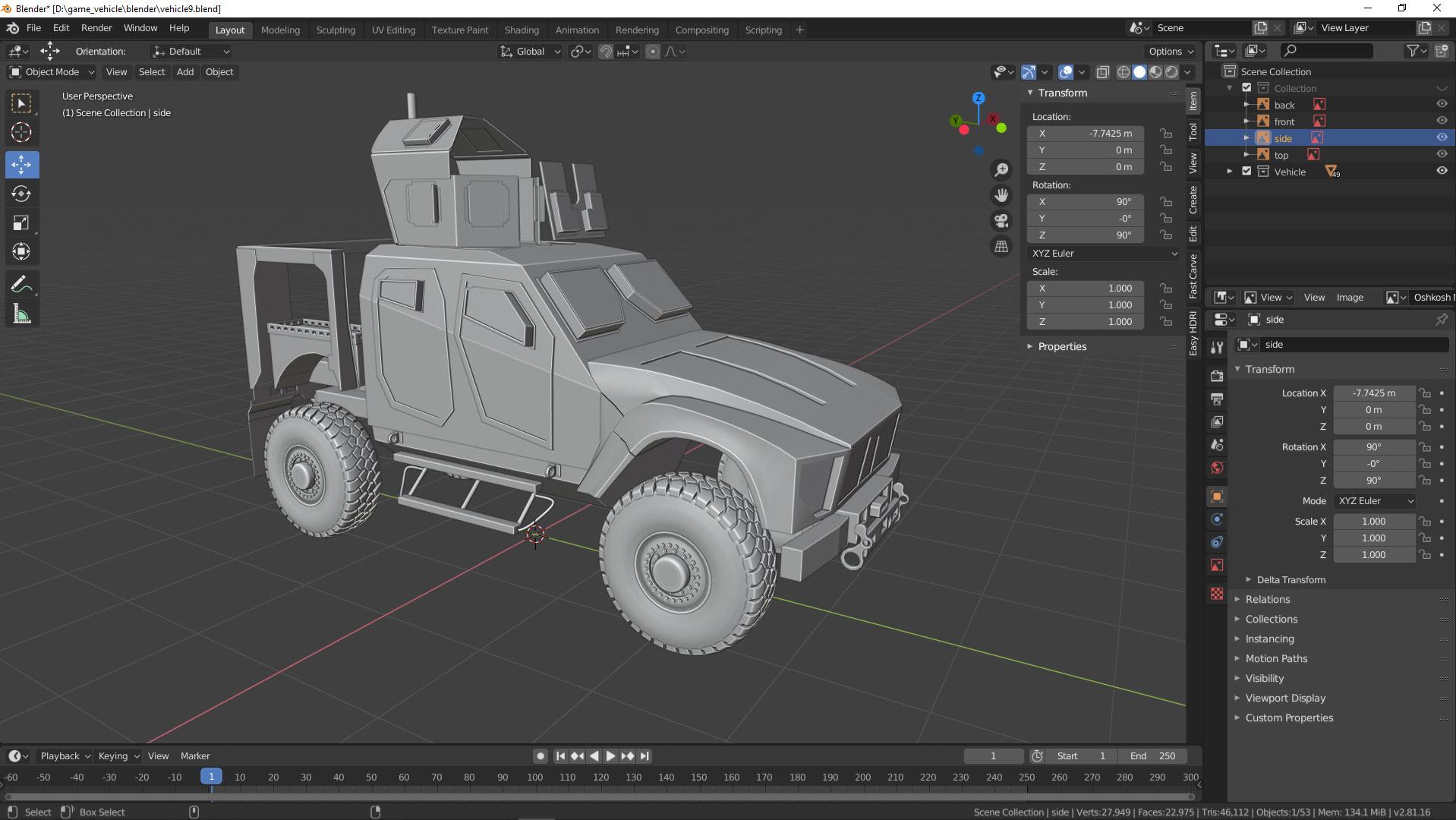 Fahrzeug für Gamer
