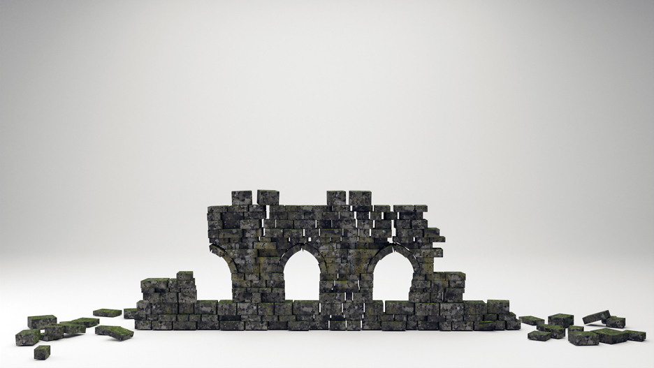 Verfallene Mauer I