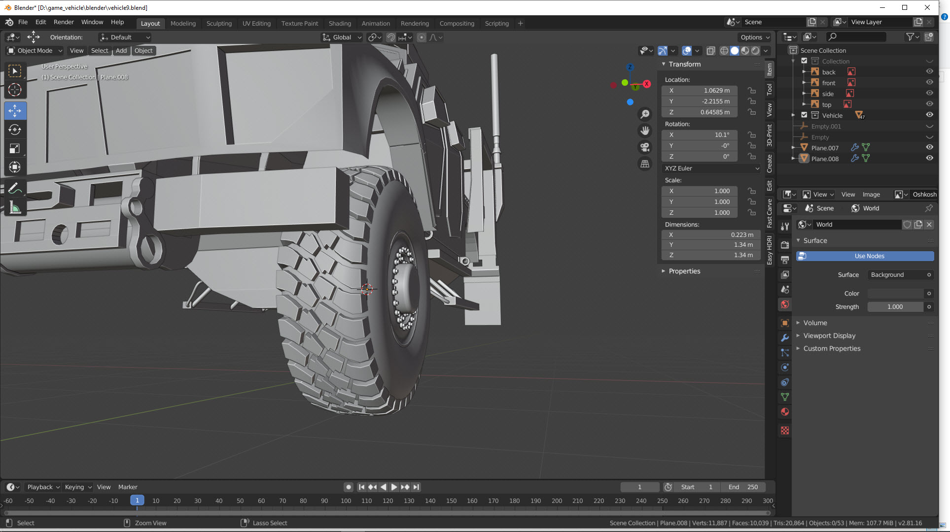 Reifenprofil erstellen