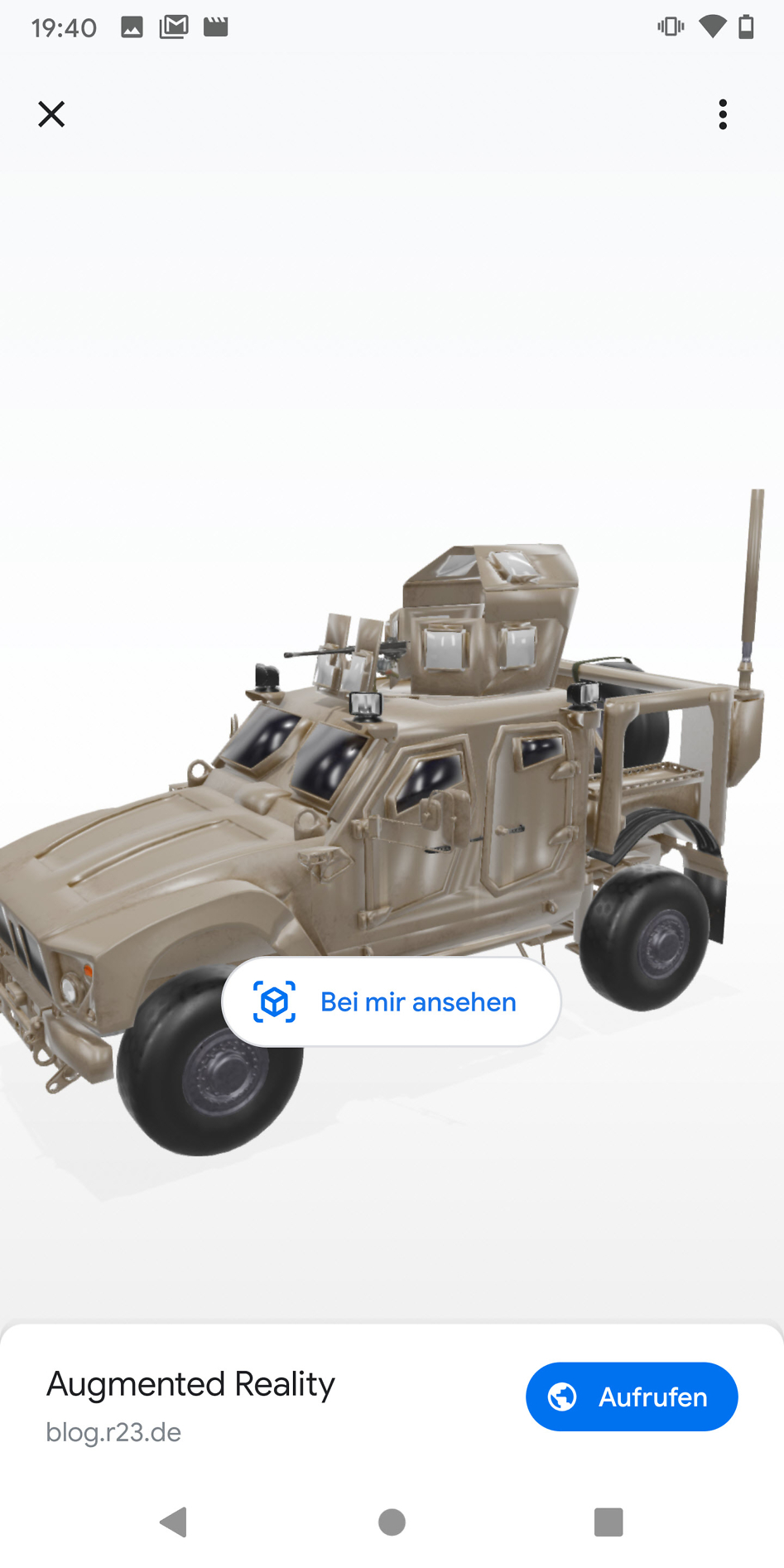 Screenshot vom 3d Modell