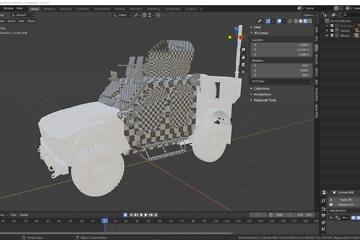 UV Mapping: Fahrzeug für Gamer Teil 18