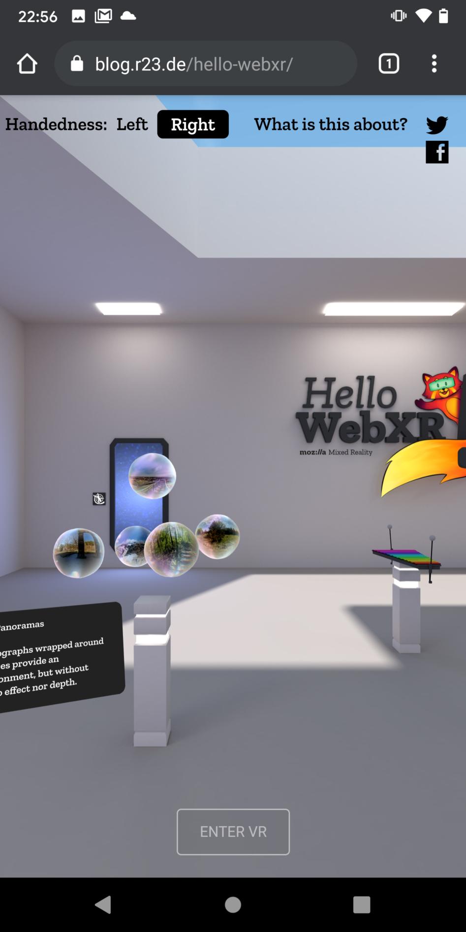 Hello WebXR bei R23