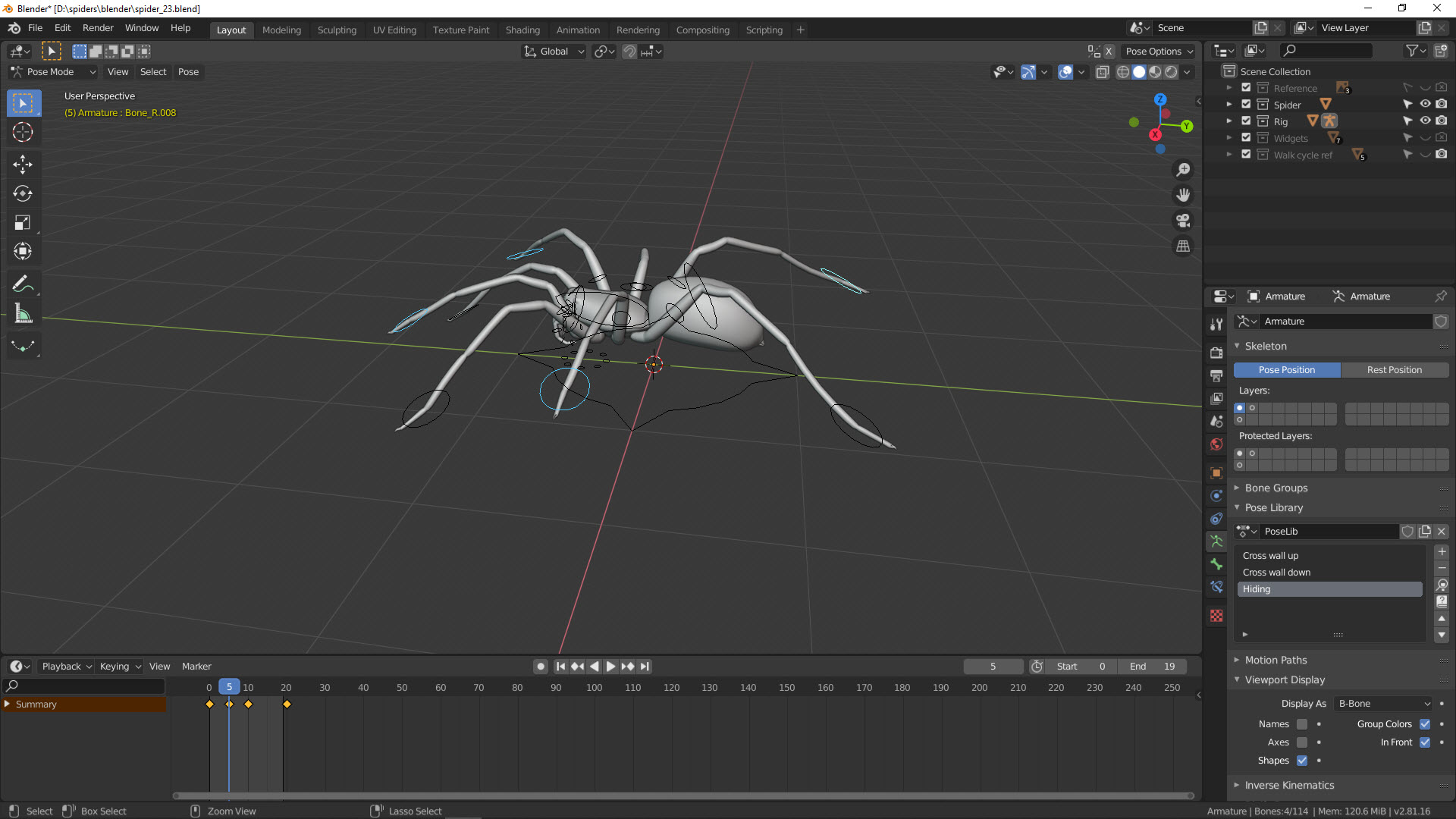 Animation Spinne 2