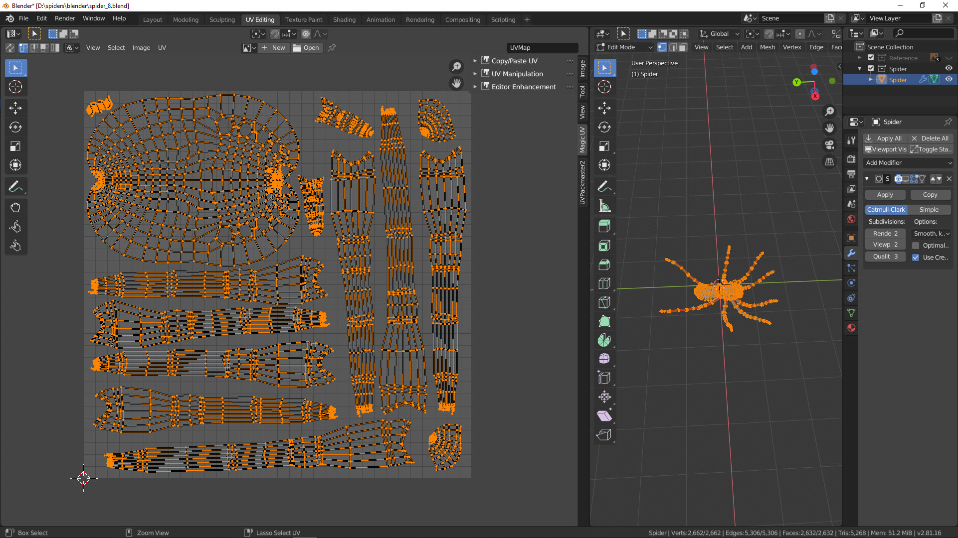 UV-Mapping einer Spinne Bild 4