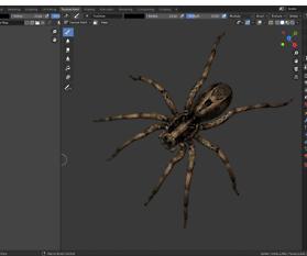 3D Modellierung einer Spinne – Teil 5
