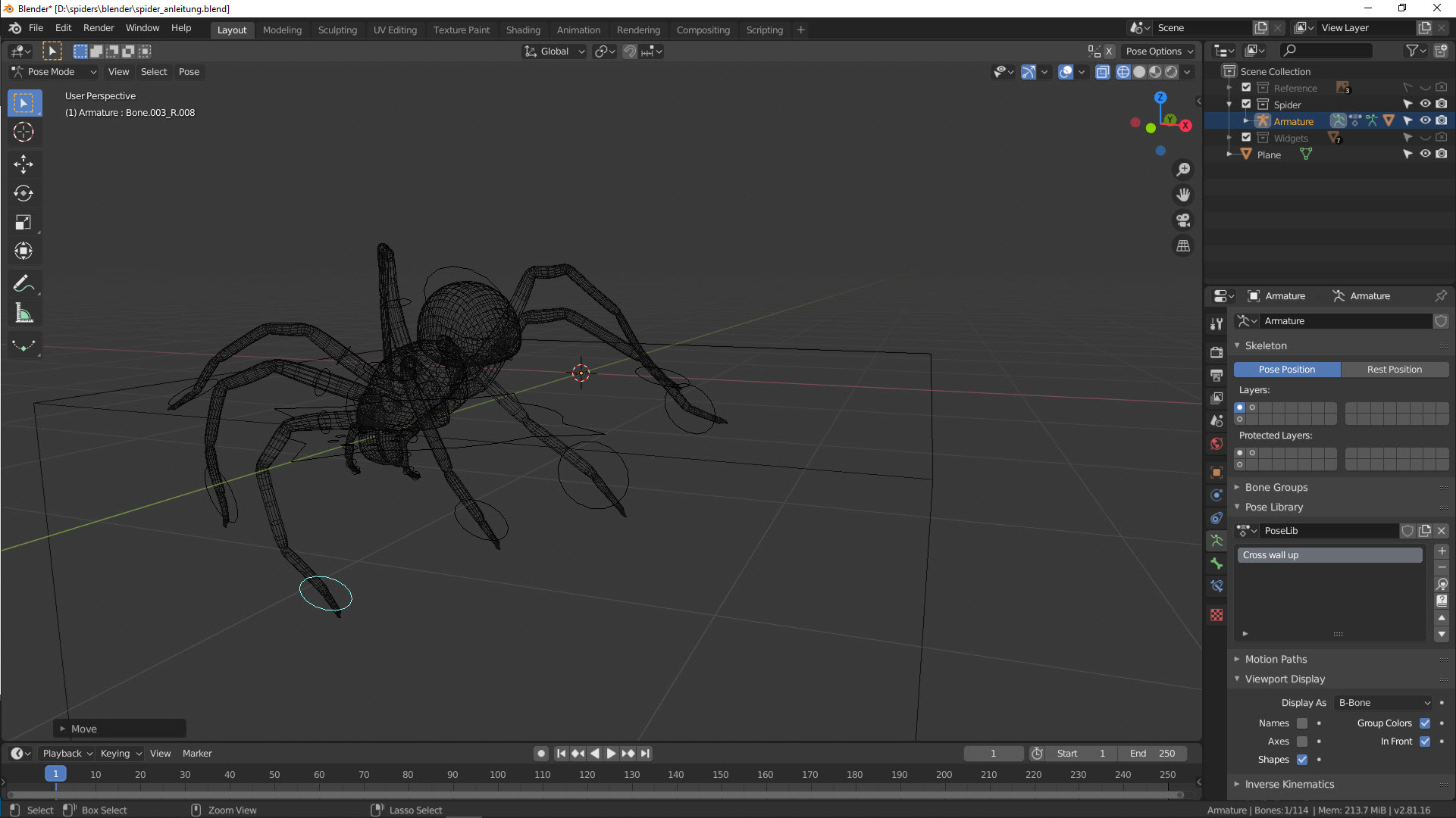 Tutorial Spinne Pose 3