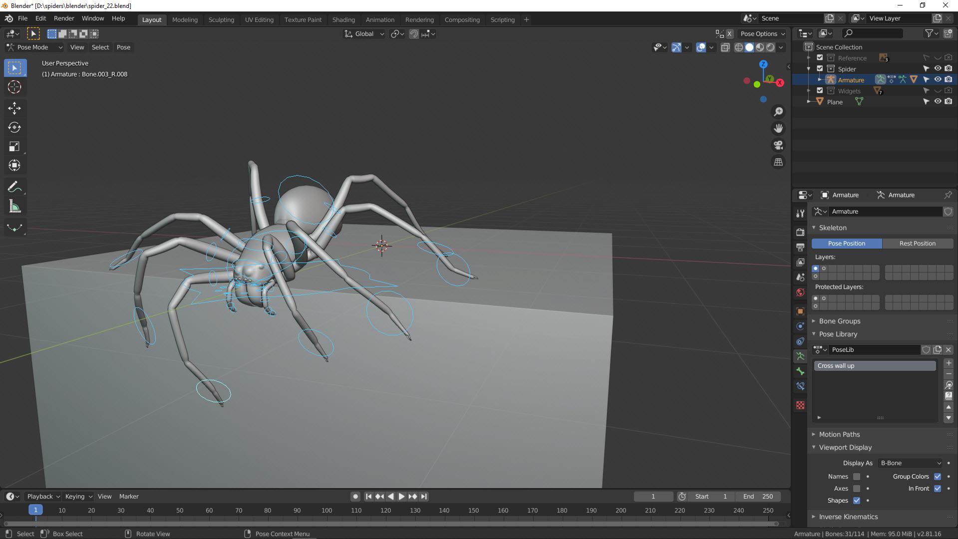 3D Modell klettert