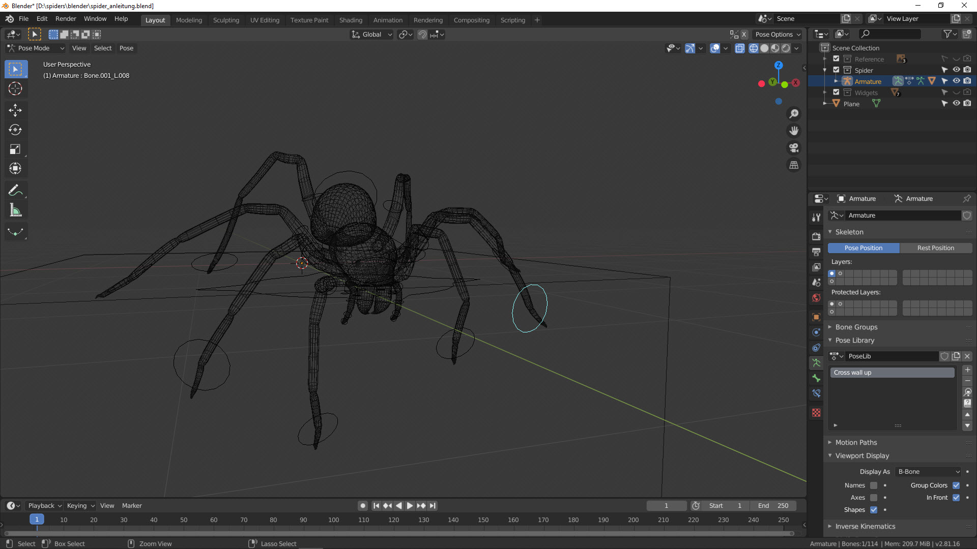 Tutorial Spinne Pose 2