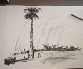 Gesten-Zeichnung Landschaft