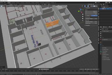 Blender: Büroetage