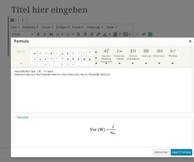WordPress: Mathematische Formel