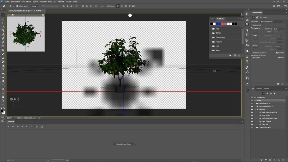 3D-Modell Zitronenbaum