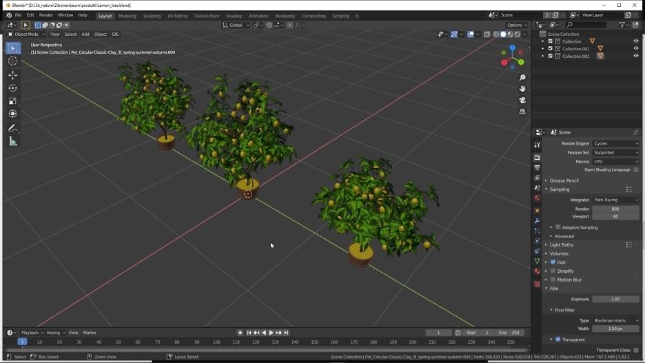 Blender: Zitronenbaum