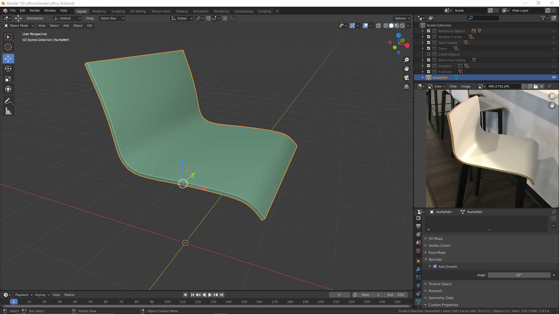3D-Visualisierung: Hocker