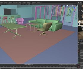 3D-Immobilien Visualisierung: Schreibtisch