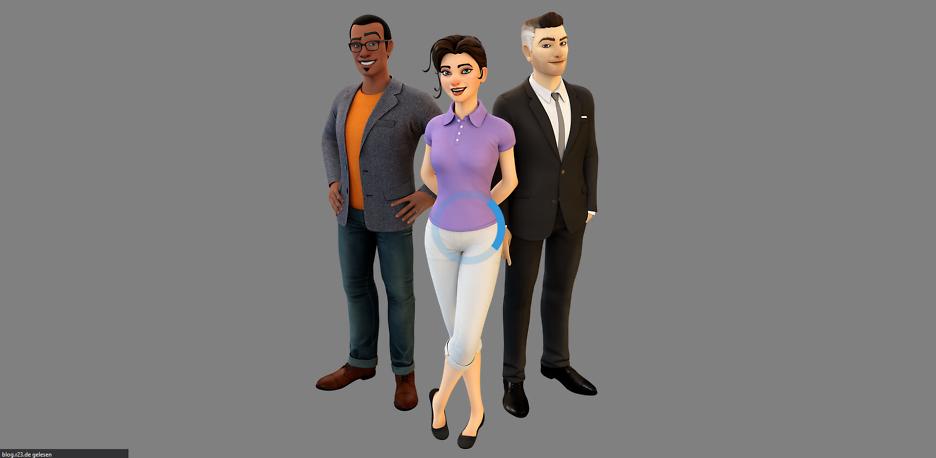 Interaktive animierte 3D-Charaktere, die im Web gerendert werden