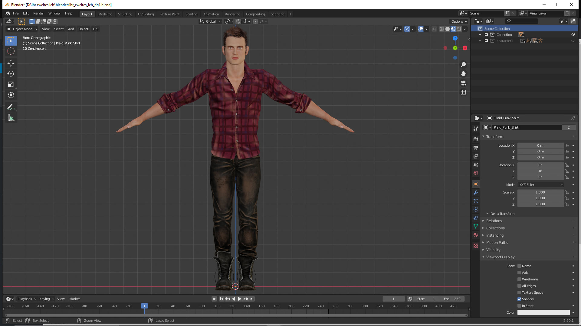 3D-Charakter von r23