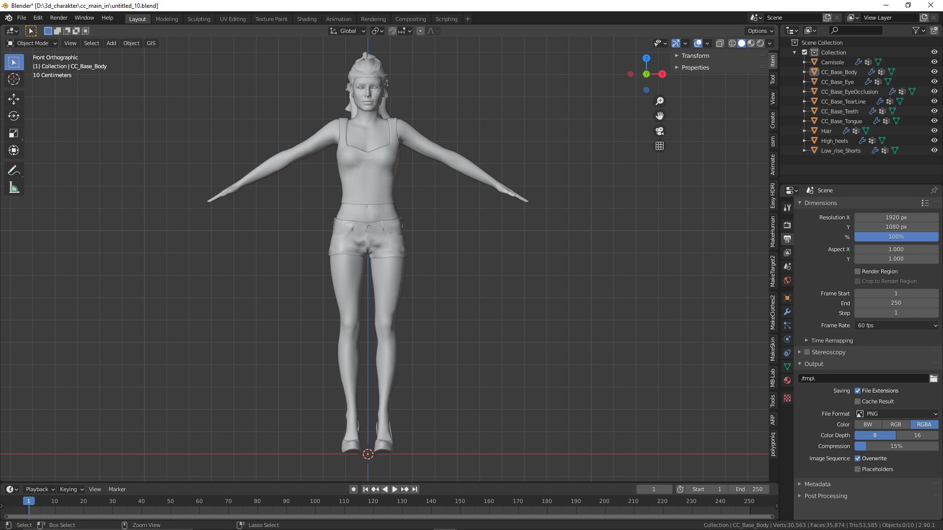 Blender import 3D-Charakter