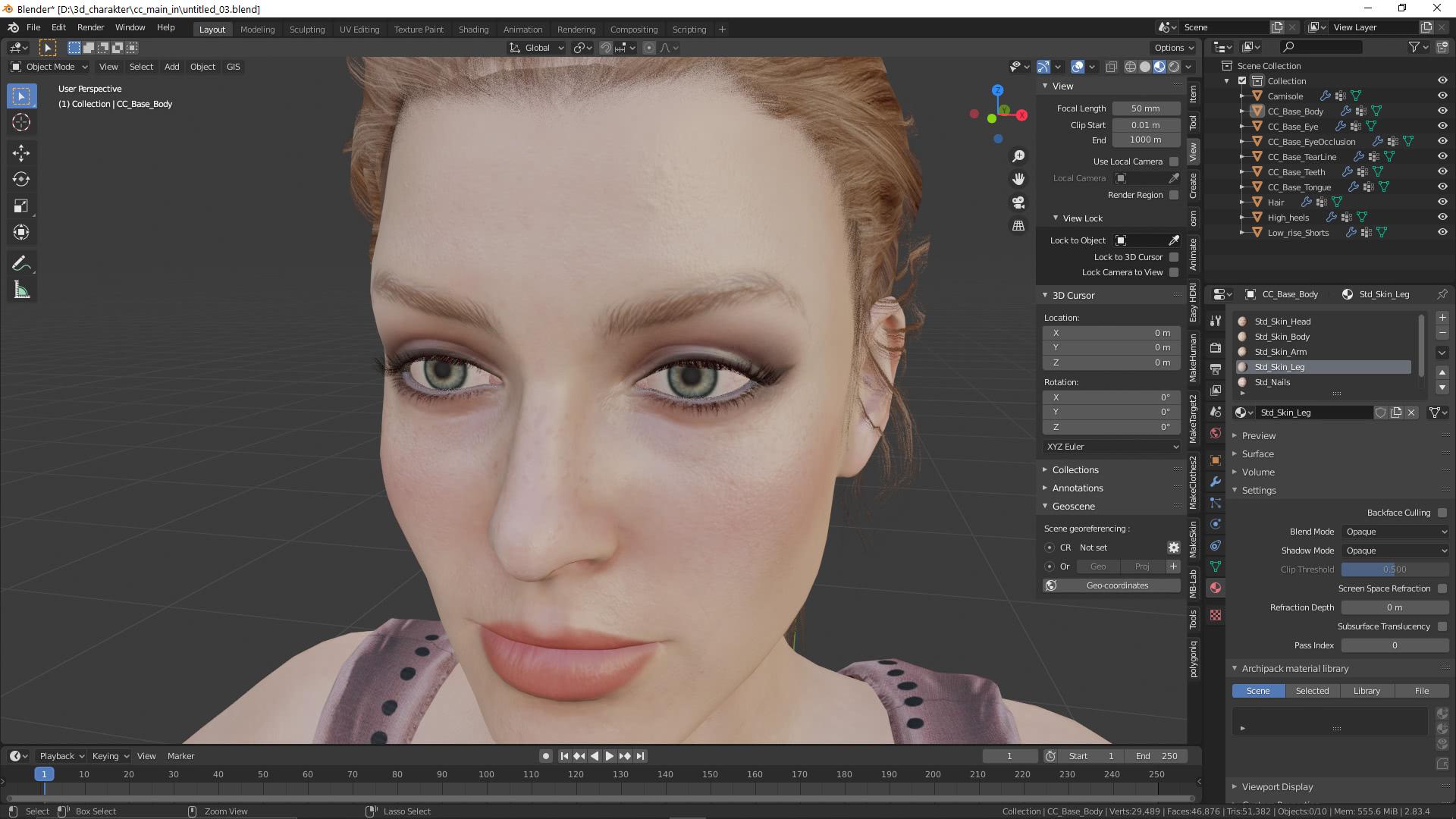 3D-Charakter in Blender