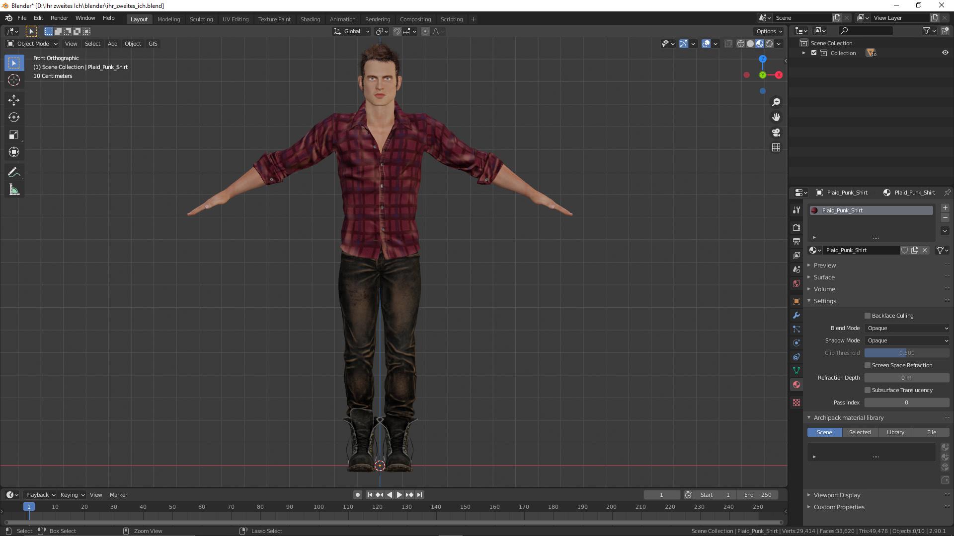3D-Charakter für: Ihr zweites Ich: Sie in 3D!