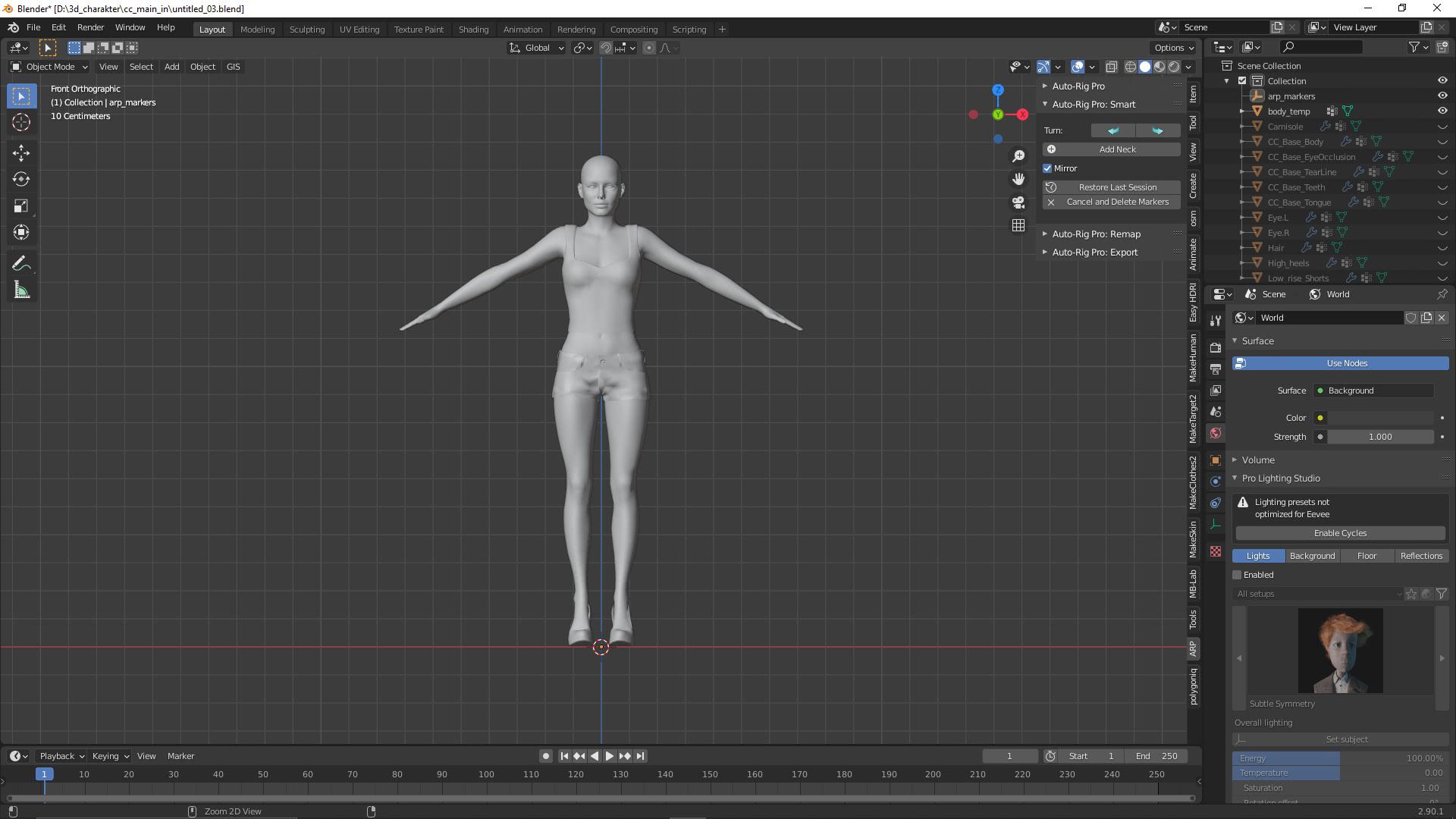 Der 3D-Charakter erhält ein Skelett 1