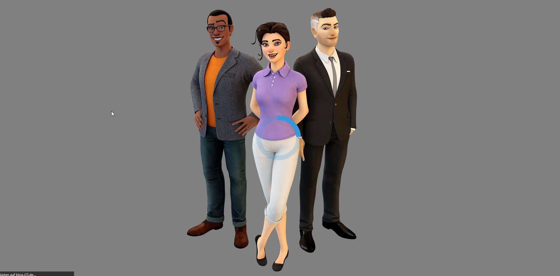 Interaktive animierte 3D-Charaktere im Web
